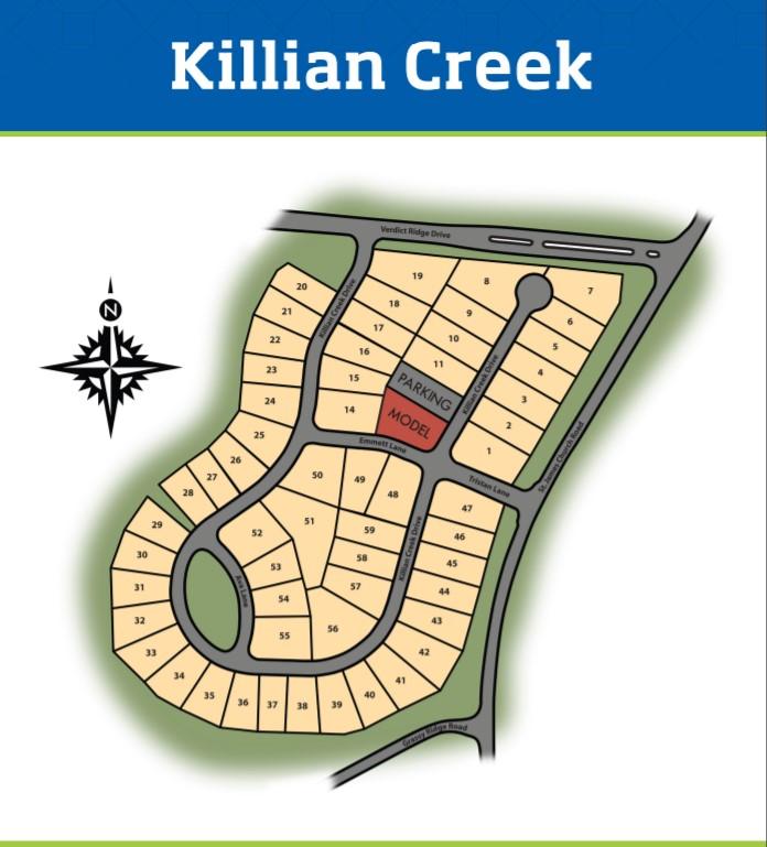 Killian-Creek-Homes-Denver-NC-Site-Map