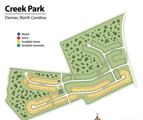 Creek-Park-Homes-Denver-NC-Sitemap